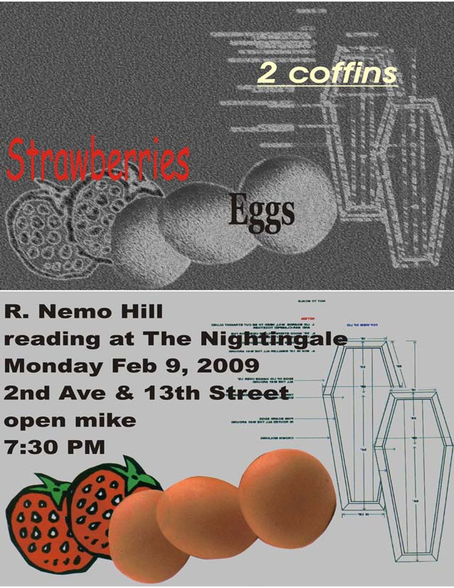 Eggs berries and coffins small